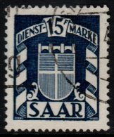 ~~~ Sarre  1949 - Service  - Mi. 40 (o)  ~~~ - Non Classés
