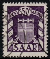 ~~~ Sarre  1949 - Service  - Mi. 43 (o)  ~~~ - Non Classés