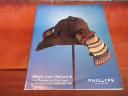 2001 PHILLIPS Auctiioneers ARMS & ARMOUR Shotgun HELMET Revolver SWORD Katana Catalogue Illustré - Autres