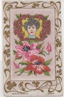 Femme Art Nouveau - Les Bijoux Modernes - Agraphe -Cachet Ambulant Montbéliard A Saint Hippolyte    (76783) - Illustrateurs & Photographes
