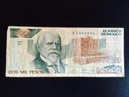Mexico Dos Mil Pesos. 1989 - Mexique