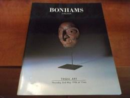 1996 BONHAMS Chelsea TRIBAL ART Africa BOOMERANG Mask Works Of Art Catalogue Illustré - Autres