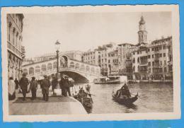 POSTCARD ITALY VENEZIA PONTE DI RIALTO UNUSED - Venezia