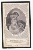 Décès Camille Alexandre Marie Chevalier De La ROCHE Mons 1904 Adel Noblesse - Devotion Images