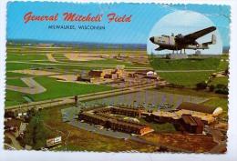 AK FLUGWESEN MITCHELL FIELD MILWAKUKEE WISCONSIN ANSICHTSKARTEN 1977 - 1946-....: Moderne
