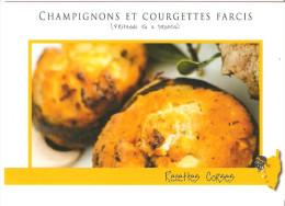 CPM RECETTE DE CUISINE CORSE CHAMPIGNONS ET COURGETTES FARCIS FRITEDDI CIU U BRUCCIU - Recipes (cooking)