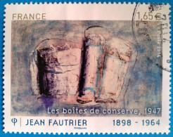 France 2014  : Oeuvre De Jean Fautrier Oblitéré - Frankreich