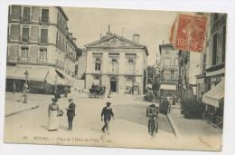 FRANCE - TYPE SEMEUSE 10c ROUGE PERFORÉ C.L.?? SUR CARTE POSTALE - Perfin