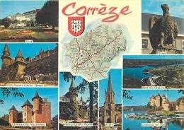 19 - Corrèze - Multivues - Carte Géographique - Voir Scans Recto-Verso - Other Municipalities