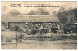 T2. Entier Congo Belge. Huilerie Du Bord Du Fleuve Dans L´île De Mateba. (écrite Mais Sans Oblitération) - Landwirtschaft