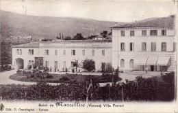 VENETO-VERONA- MARCELLISE VEDUTA VILLA FERRARI ANIMATA ANNI 20 SALUTI DA MARCELLISE - Italia