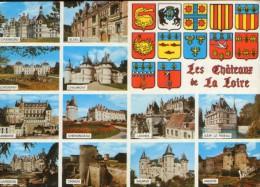 France - Carte Postale Neuf - Les Chateaux De La Loire - Collage D'images - 2/scans - Centre-Val De Loire
