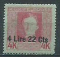 k.u.k. Feldpost, Italy, Mi.19* hinged, never used