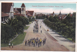 CALIFORNIA, 1900-1910´s; Funeral Procession, Soldiers´ Home - Etats-Unis