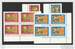 1995 Vaticano Vatican  EUROPA CEPT EUROPE 5 Serie Di 2v. In Quartina +1 MNH** - Europa-CEPT
