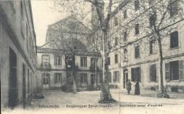 MIDI PYRENEES - 31 - HAUTE GARONNE - TOULOUSE - Pensionnat St Joseph - Pliure  - Ancienne Cour D'entrée - Toulouse