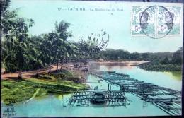 VIETNAM INDOCHINE COCHINCHINE TAY NINH  LA RIVIERE VUE DU PONT - Viêt-Nam