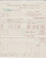"""FIRENZE - 1962 /   Corrispondenza  Commerciale - Fattura   """" ODOARDO MECATTINI  & F. """" - Italia"""