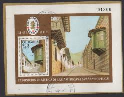 HF37-KOLUMBIEN / COLOMBIA.-S/S.- MI: BLOCK  37- 1978.- USED.-. PHILATELIC EXPOSITION ESPAMER`78 .-. CV €: 4.50 - Kolumbien