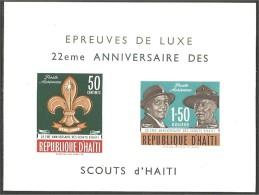 Haiti 75th Scouts 1982 MNH ** Neufs SC (3-896) - Scoutisme