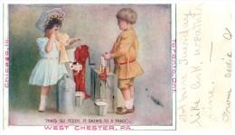 16676 The Sharples Separator C0.  Milk Separator.  Children Working - Advertising