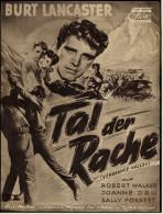"""Das Neue Film-Programm Von Ca. 1951  -  """"Tal Der Rache""""  -  Mit Burt Lancaster , Robert Walker - Magazines"""