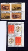 CANADA 1972, # 563a-5a  PLAINS INDIANS  BLOCKS  Of 4 MNH - Blocs-feuillets