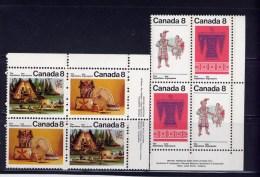 CANADA 1973, # 567a-9a   ALGONKIAN  INDIANS  MNH  SET OF 2 BLOCKS - Blocs-feuillets
