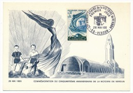 FRANCE => Carte Maximum => 0,30 + 0,05 - 50eme Anniversaire De La Victoire De Verdun - 1966 - 1960-69