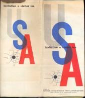 Brochure Dépliant - Toerisme Tourisme - SA - Visit USA - Message President + Map 1958 - Dépliants Touristiques