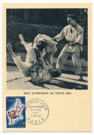 FRANCE => Carte Maximum => 0,50 - Jeux Olympiques De Tokyo - 1964 - 1960-69