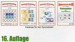 RICHTER 1-4 Zusammendrucke Markenhefte+Abarten Katalog DDR 2015 Neu 100€ Se-tenant Booklet Special Catalogue Of Germany - Vereinswesen