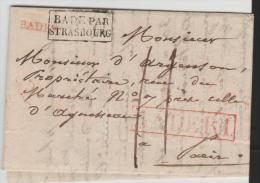 Bad131/  BADEN - Brief, Bade-Baden 1826. Inhalt Komplett - Duitsland