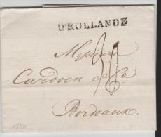 NLC034/- NIEDERLANDE - Amsterdam 1800 Kpmplett Mit Text Nach Bordeaux - ...-1852 Vorläufer