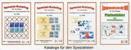 DDR RICHTER 1-4 Zusammendrucke Markenhefte+Abarten Katalog 2015 New 100€ Se-tenant Booklet Special Catalogue Of Germany - Télécartes