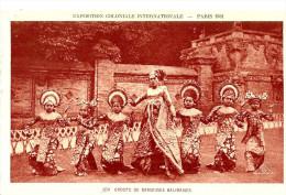 Expositions. Groupe De Danseuses Balinaises à L'exposition Coloniale De Paris En 1931. - Ausstellungen