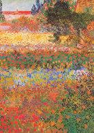 DG097 - VINCENT VAN GOGH - FLOWERING GARDEN - UNWRITTEN - IMPRESSIONISM - Paintings