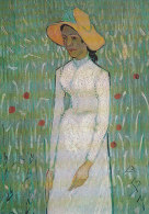 DG100 - VINCENT VAN GOGH - GIRL IN WHITE DRESS - UNWRITTEN - IMPRESSIONISM - Paintings