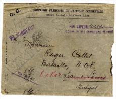 COMPAGNIE FRANCAISE DE L AFRIQUE OCCIDENTALE LETTRE PAR BATEAU ASIE POUR DAKAR 1915 - 1877-1920: Periodo Semi Moderno