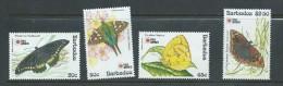 Barbados 1991 Butterfly Phila Nippon Set 4 MNH - Barbados (1966-...)