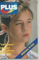 """PLUS  N° 100  """" CHARLOTTE GAINSBOURG """" - JANVIER 1987 - Télévision"""