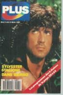"PLUS  N° 118  "" SYLVESTER STALLONE "" -   MAI 1987 - Télévision"