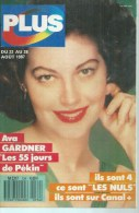 """PLUS  N° 134  """" AVA GARDNER """" -   AOUT 1987 - Télévision"""