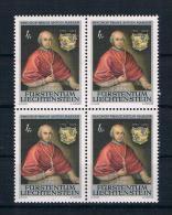 Liechtenstein 1974 Bischof Mi.Nr. 613 4er Block ** - Neufs
