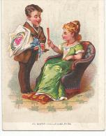 CHROMOS L. VILLAIN à SAINT GERMAIN EN LAYE - LE VISITEUR AU BOUQUET. - Trade Cards