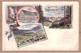 ALLEMAGNE - CARTE LITHOGRAPHIE - 840 - GRUSS AUS FREUDENSTADT - GASTHOF & BIERBRAUEREI - éditeur  ? - 1897 - Freudenstadt