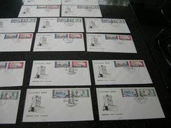 BELG.1966 1385-1388 FDC Liege,huy,antwerpen,charneux,dendermonde,moorsele,tongeren,hannut = 16 Enveloppen - 1961-70