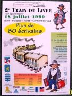 AFFICHE COULEUR SUR PAPIER 90gr ? GLACE PUBLICITE 2ième TRAIN DU LIVRE TRAIN VAPEUR 141 R 420 ILLUSTRATIONS JACQUES POIN - Plakate