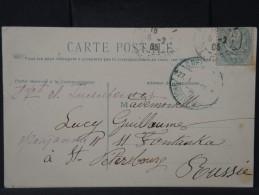 RUSSIE- OBL EN BLEU DE ST PETERSBOURG ? EN 1905 SUR CP DE FRANCE VOIR SCANS  P3142 - Storia Postale