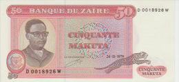 Zaire 50 Macuta 1979 Pick 17a AUNC - Zaire
